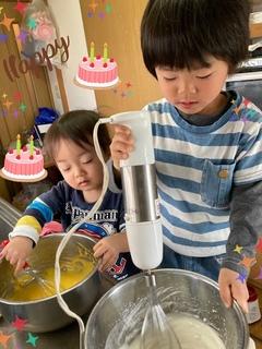ダブル社長ケーキ作り.JPG